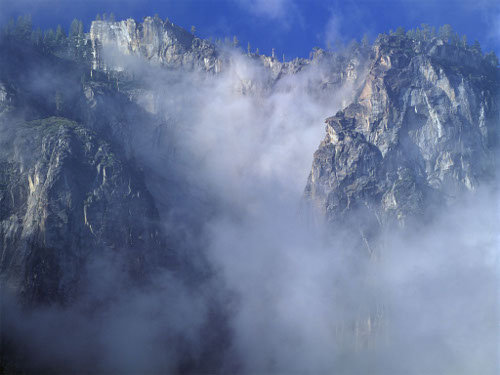 cliff in the clouds